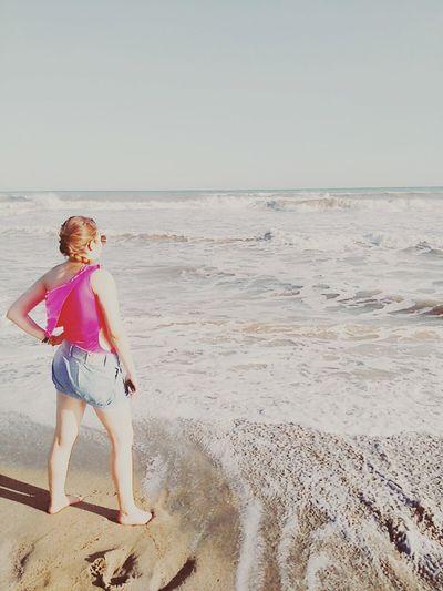 Color Palette Ocean Photography Girl Model Landscape Hello World Summertime