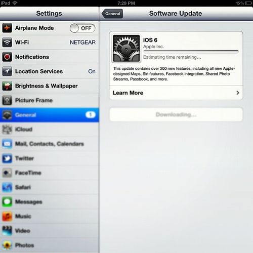 FINALLY! Ios6update Ipad3