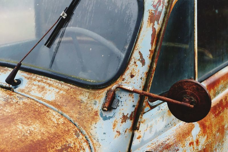 Car Metal Mode Of Transport Rusty No People Transportation Outdoors Close-up Erroded France