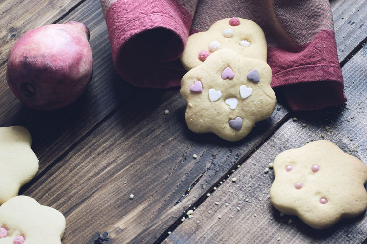 Close-Up Of Homemade Cookies