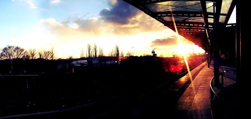Skyline Train Station Enjoying The Sun Panorama