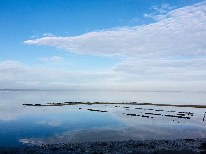 Sky Cloud - Sky Water Scenics - Nature Beauty In Nature Sea Nature Tranquility No People Idyllic Reflection Day Blue Horizon