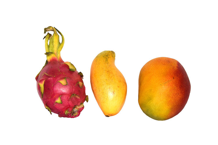 EyeEm Gallery Fruits Isolated On White Background. This Is Clipping Path Photo Juice Mango Objects Red Close-up Delicious Dragon Fruit Food Food And Drink Fresh Freshness Fruit Fruits Healthy Eating Healthy Food Healthy Fruit No People Pear Peel Still Life Studio Shot White Background Yellow