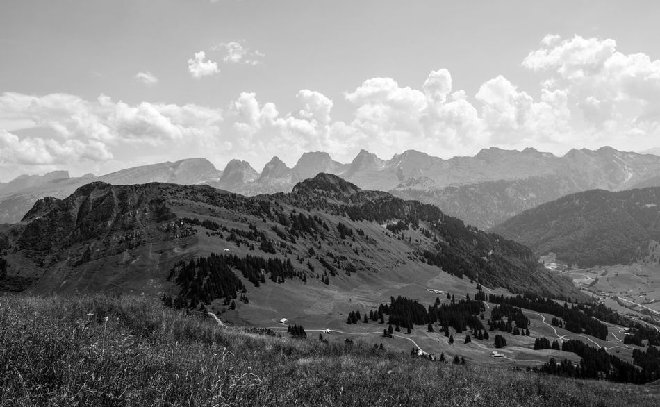 Die Sieben Churfirsten Beauty In Nature Mountain Tranquility Nature Scenics Tranquil Scene Landscape Sky Day Outdoors Mountain Range Cloud - Sky Switzerland Toggenburg Churfirsten Alpen Nikon Nikon D810 Manfrotto Stockberg Monochrome Blackandwhite Schwarzweiß Schweiz