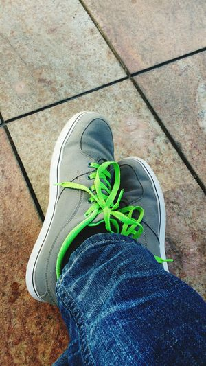 Canvas Shoe Grey Outdoor Human Leg Close-up Footwears