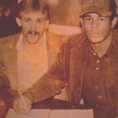 My pops signing
