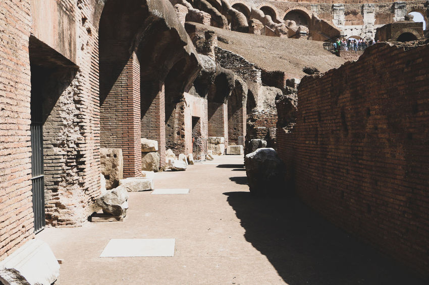Colloseum In Rome Rome Italy Beautiful Light And Shadow Detail Ancient Architecture Photoblogger Instatravel Capetownphotographer Wanderlust VSCO Italy❤️ Travelblogger Canon Travelphotography Shadow History Rock - Object Architecture Ancient Rome Architectural Column