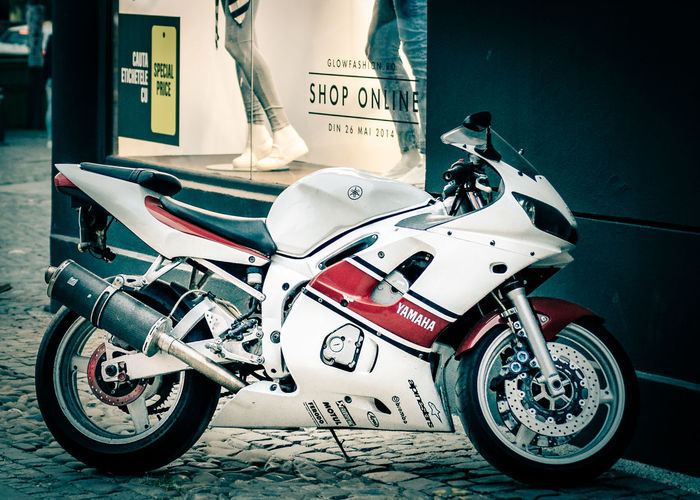 Bike Bikes Motorcycle Outdoors Still Life Transportation Wheel Yamaha