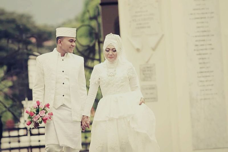 Wedding Heterosexual Couple Pancamedia Loveaceh Aceh, Indonesia Happiness Wedding Day Friendship People Outdoors Day Myjob