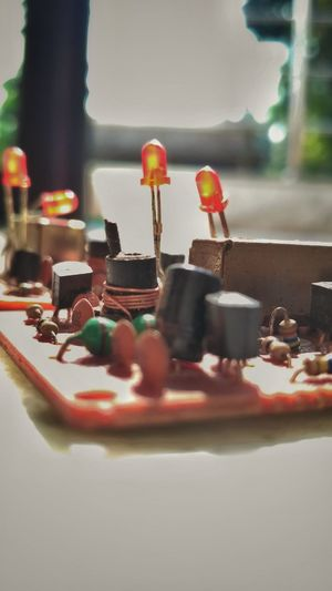 Electrical equipment on table