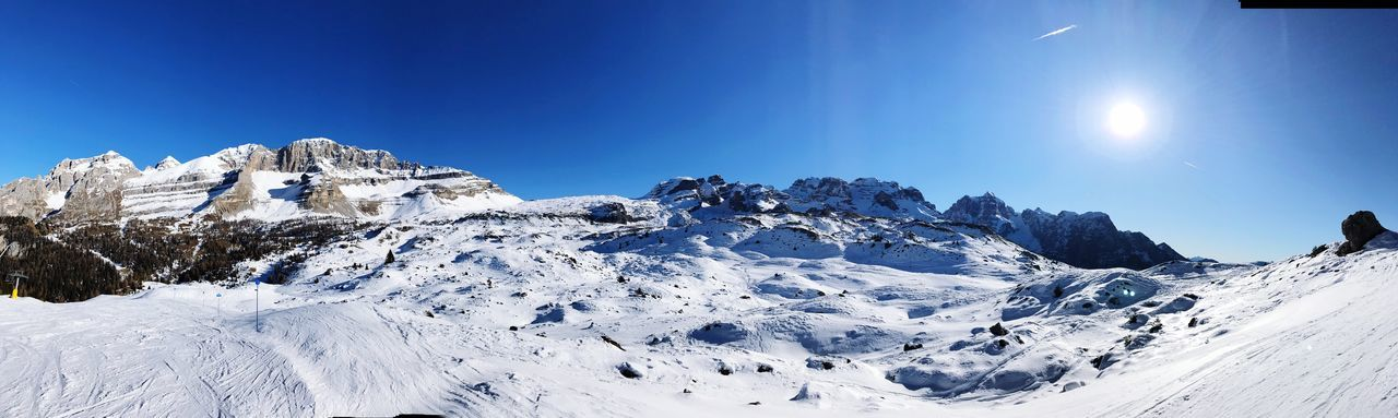 EyeEm Selects Snow Cold Temperature Winter Sky Beauty In Nature Scenics - Nature Clear Sky Mountain Blue White Color Nature