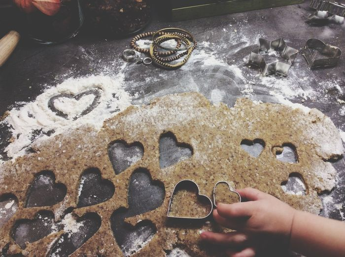 Cookie time with my little one. Cookies Winter Wintertime Kitchen Utensils Getting Inspired Bestoftheday Family Love Heart Festive Season