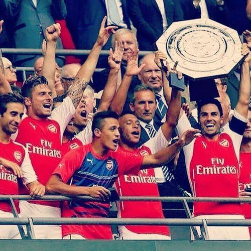Community Shield Arsenal`Da! :) ^_^ ♡ ARSENAL ♡ 3-0 Man City 4evergoonner Happy Won CommunityShield