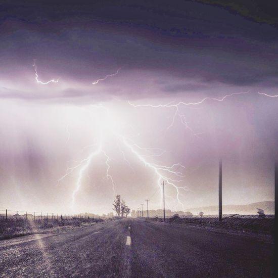 Thunderstorm over Davis Road Salinas, CA Lightening Storm Lighteningstrike Weather Roadways