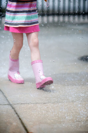 ©Amy Boyle Photography Casual Clothing Childsplay Enjoyment Fun Times Galoshes Galoshes On A Sunny Day Kids Being Kids Leisure Activity Lifestyles Pink Color Playtime Rain Rain Boots Spring Sunset Fresh On Eyeem