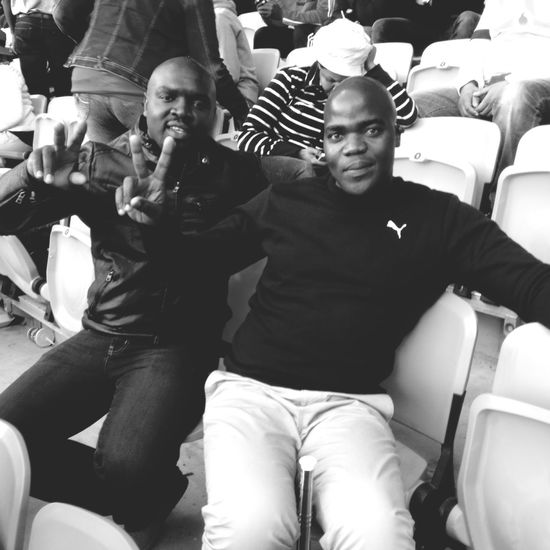 Me and my friend oriel mulovha at soccer city