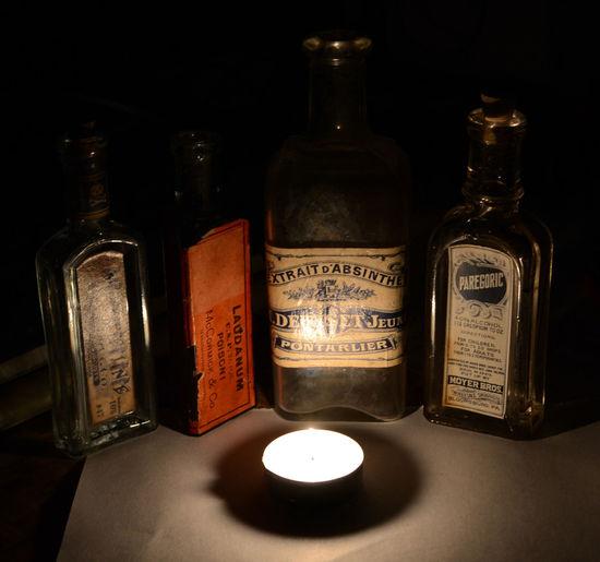 Bottle Drug Laudanum Medical Opium Paregoric XIX