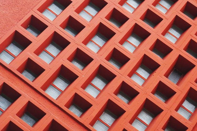 Full frame shot of patterned windows