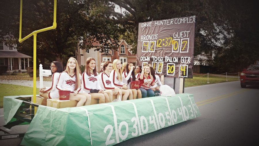 Homecoming Homecoming Parade  Cheerleaders  Paradefloat Southernlife Highschool Highschooldays