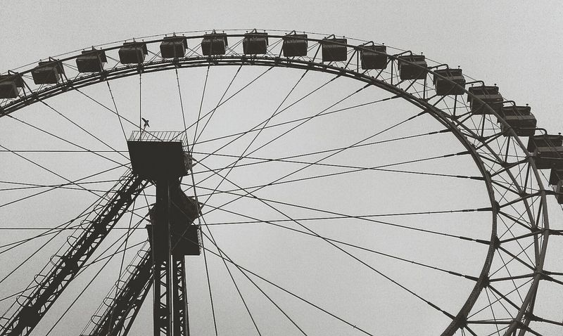 Faris Wheel Blackandwhite Attraction Wheel