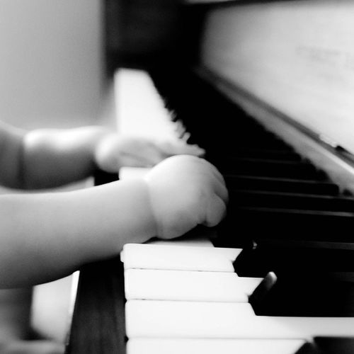 Baby hands and piano keys. Mbertagnaphotography Photography Babyhands Piano pianokeys blackandwhite