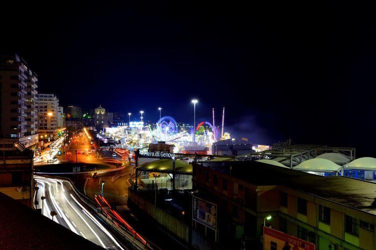 Auto Building Exterior Car City City Life Divertimento Festa Fynnymoments  Genoa Genova Giostre Illuminated Light Luna Park Night Night Lights Notturno Rain Speed Urban