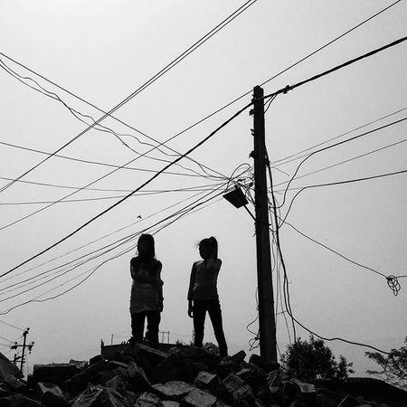 Thimi, Bhaktapur. April 14th. Wires Nepal Kathmandu Street