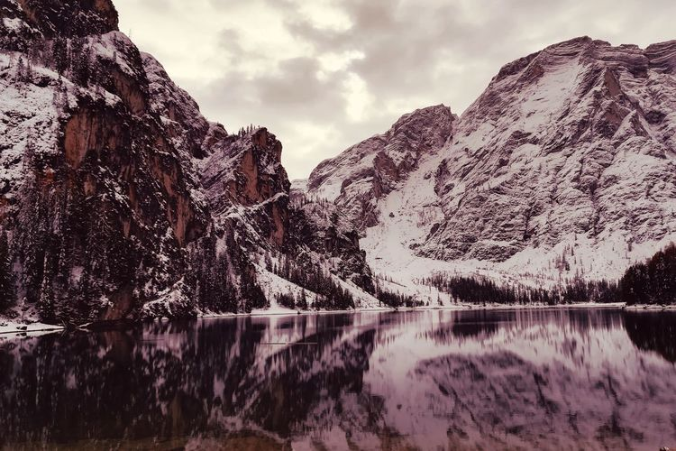 _Deep thinking Braies Braieslake Snow ⛇ Nature Mountains Perspectives On Nature EyeEmNewHere