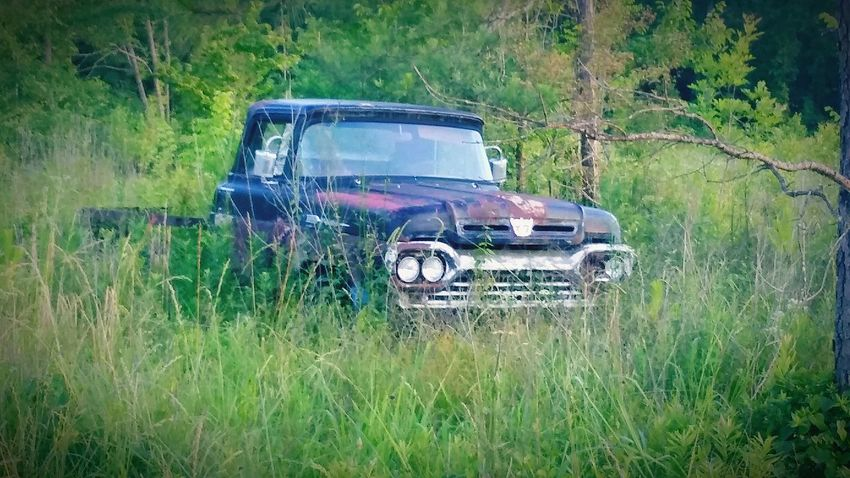 Old truck.... Damaged Transportation Mode Of Transport No People Car Abandoned Grass Nature Outdoors Land Vehicle Growth Day Plant