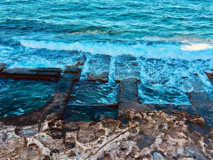 Ocean Wave Travel Destinations Backgrounds Full Frame Water Day No People Outdoors High Angle View Sea Blue Nature Close-up