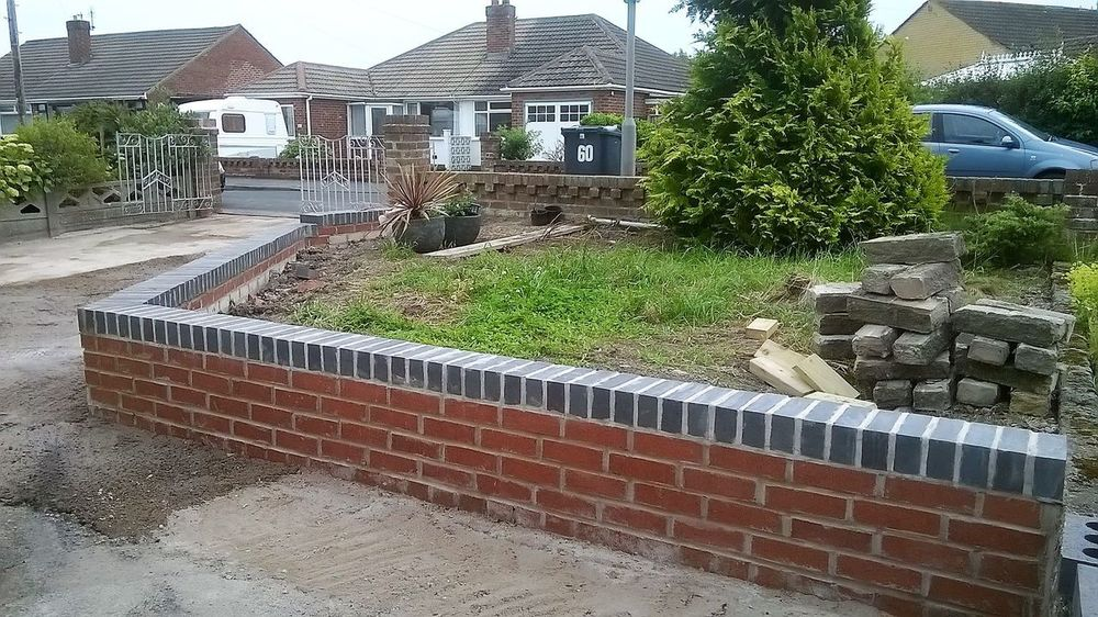 Architecture Bricks Brickwork  Building Exterior Built Structure DIY At Home Diy Project Garden Makeover Garden Photography Garden Wall Grey Bricks House Red Brick Residential Building Tree