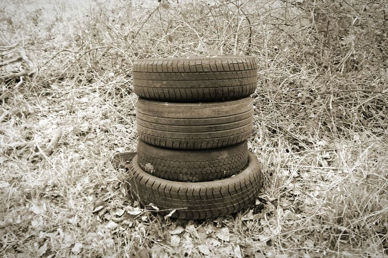 Tyre Stack Trash Rubbish Outdoor Dump Car Tyres Car Tyre Abandoned Dissonance