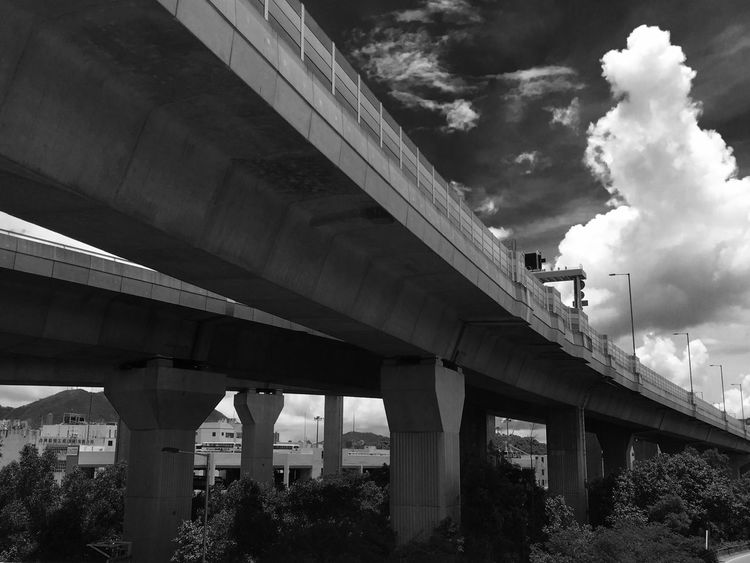 Black And White Photography Sunlight, Shades And Shadows Flyover Highway Sky And Clouds Sunlight And Shadow IPhoneography