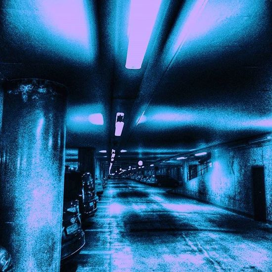 Ulm Parkhaus Licht Tunnel Dunkel Straße Auto Stadt Urban Car City Light Dark Town Night Silence