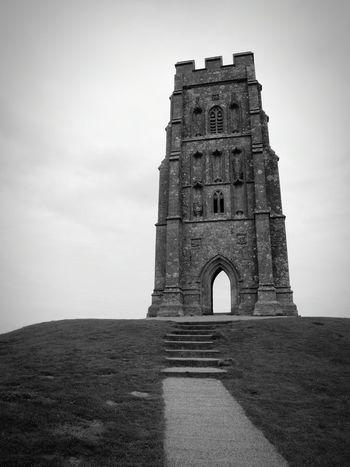 Glastonbury Glastonbury Tor Somerset Stone Tower Steps Hilltop Landmark Landmark Tower Summer Road Trip