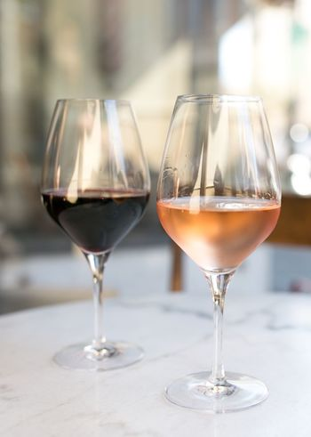 Rose Wine Rosé Red Wine Two Glasses Of Wine Wineglass Wine Alcohol Red Wine Table Refreshment Food And Drink Drink Focus On Foreground Freshness Drinking Glass No People Food Stories