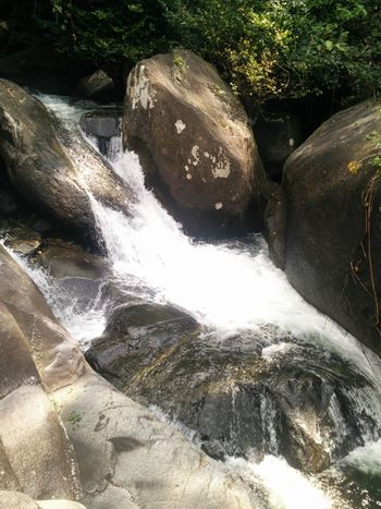 Water Stone Wall Waterfall Beauty In Nature Nature No People Day Outdoors Cataract