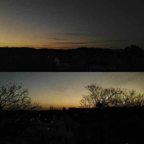 Die Sonne geht unter in Uerdingen Nord. Uerdingen Sonnenuntergang Sunset Germany NRW Krefeld KrefeldUerdingen