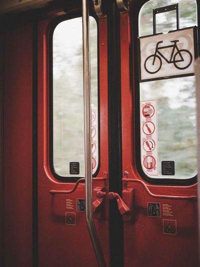 Train passing through window