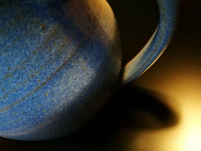 High angle view of coffee on metal