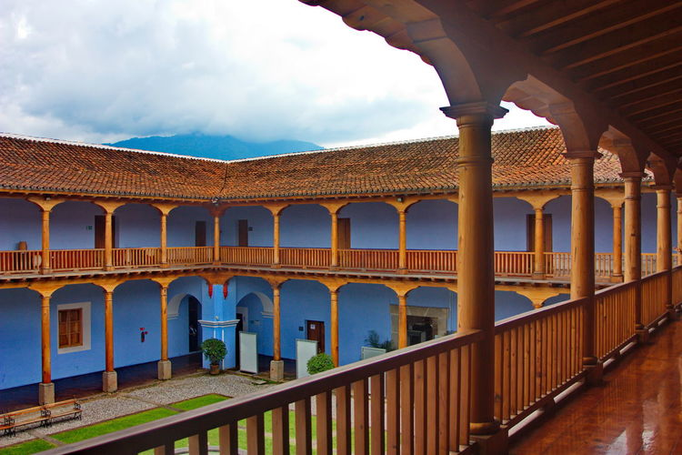 Public building in historic city, Museo Arte Colonial, Antigua, Guatemala. Shingles Shingles Roof Roof Wooden Wooden Columns Gallery Colonial Style House Colonial House Antigua Guatemala Guatemala Arch Architectural Column Architecture Built Structure Cloud - Sky Colonial Colonial Architecture History In A Row No People Pillar Public Places Railing Sky Travel Destinations EyeEmNewHere Colour Your Horizn This Is Latin America