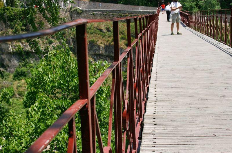 People on footbridge