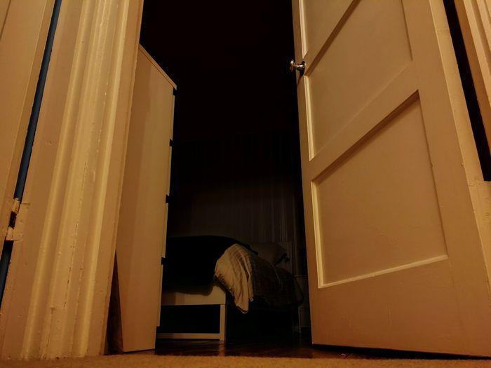 Bedroom in the dark