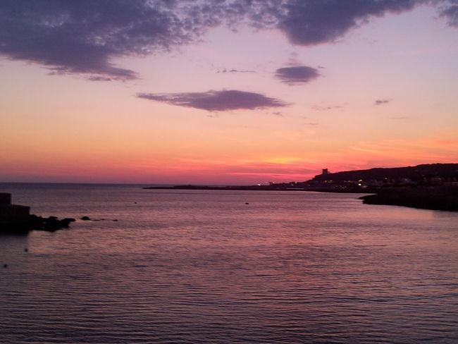 Sunset on Ionio sea. Sunset Beautiful Sunset Nature