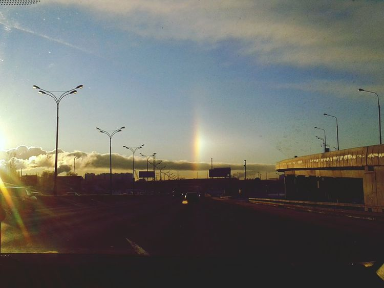 Light Miracle Holylight Rainbow Sky Road Moscow Christmas Jesuscalling  Jesuschrist