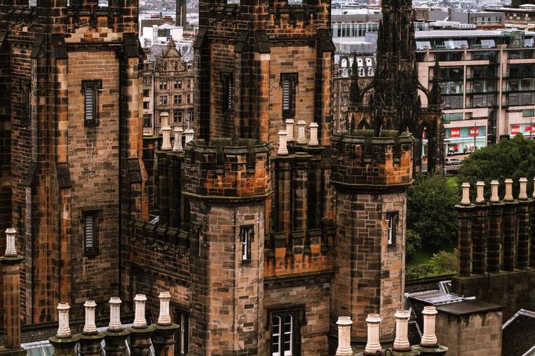 Buildings castle in a city