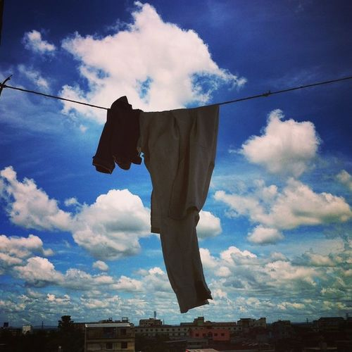 Untitled ! Js Jashimsalam Photographer Photojournalist Documentary Dailylife Blue Sky Cloaths Hang Monsoon Urbanlivingfs Cityscape Sunny Instagram Chittagong Chottogram Everydaybangladesh