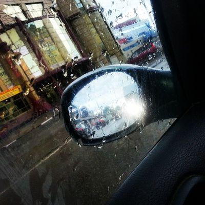 зазеркалье Дождь В_дороге отражение ожидание пробки