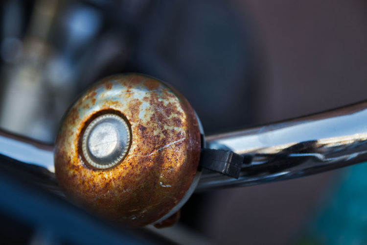 Close-up No People Focus On Foreground Single Object Bike Bicycle Bicycle Bell Rusty Fahrradklingel Bokeh