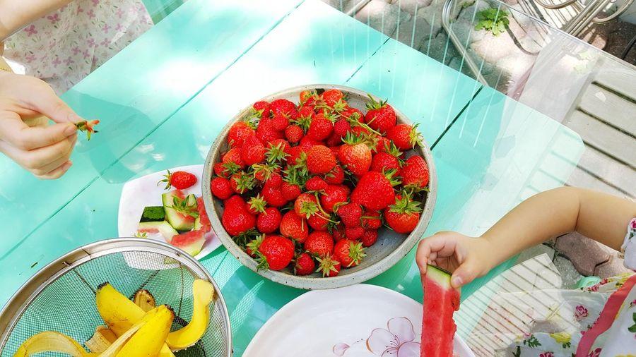 Sweet orgarnic home strawberry